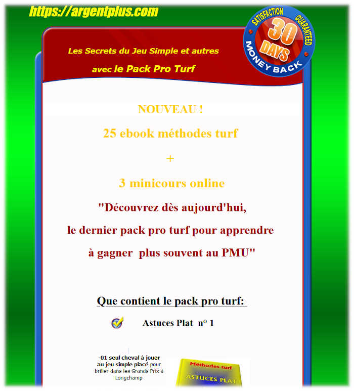 Pack pro turf 25 ebook + 3 mini-cours online