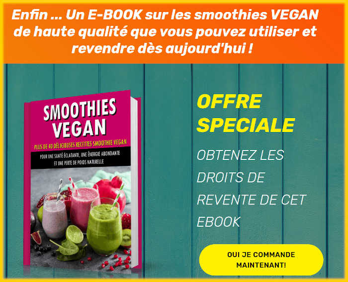 Smoothies Vegan ebook avec droits de revente